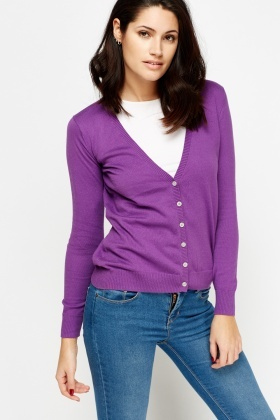 Cotton Button Front Cardigan