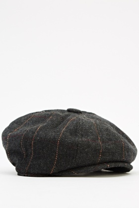 Checked Newsboy Cap