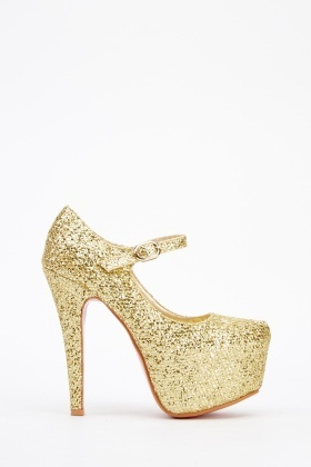 High Shine Glitter Platformed Heels
