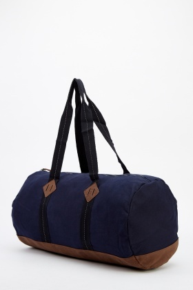 Mens Canvas Barrel Bag