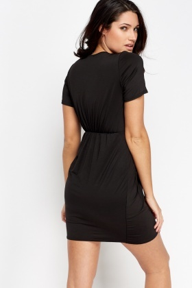 Wrap Elasticated Dress