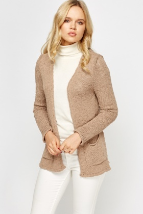 Open Longline Knit Cardigan