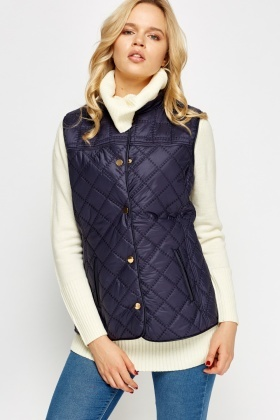 Quilted Button Up Gilet