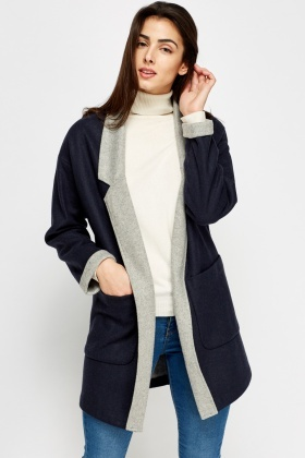 Open Front Oversized Fleece Jacket - Just £5