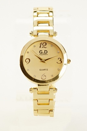 Gold Chained Watch
