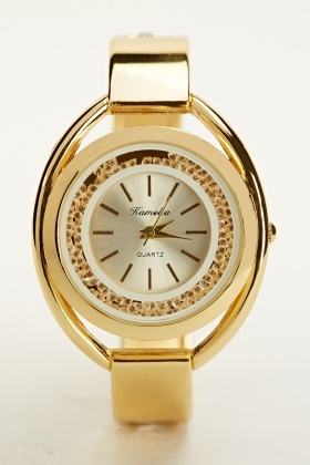 Move Stone Face Bangle Watch
