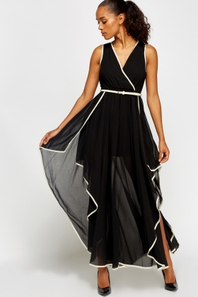 Wrapped Flared Belted Dress