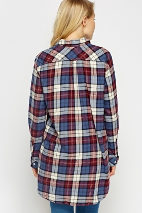 Middle Blue Checked Shirt