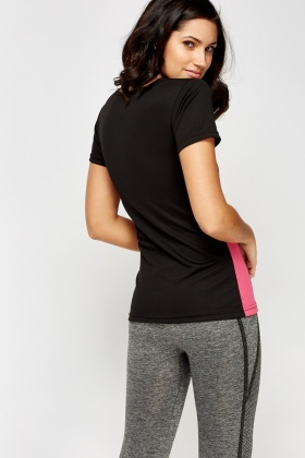 Contrast Side Gym Top