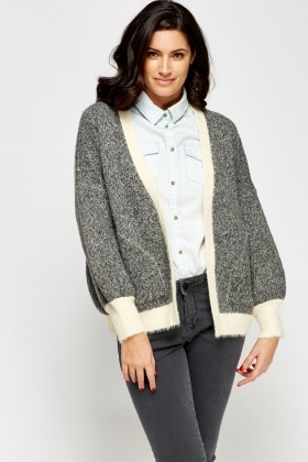 Open Front Eyelash Cardigan