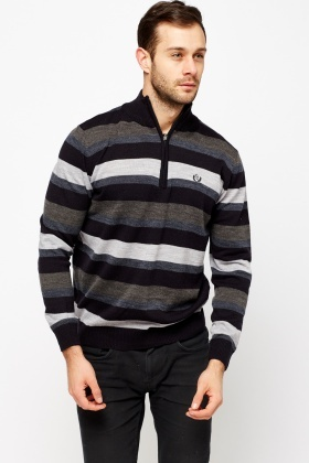 Zip High Neck Jumper