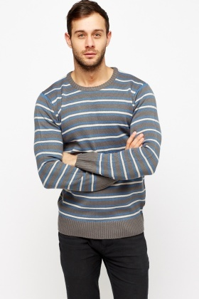 Striped Ribbed Jumper