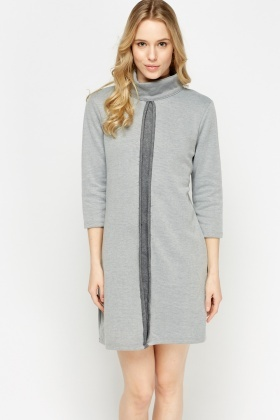 High Neck Panel Dress