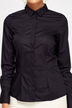 Black Formal Button Shirt