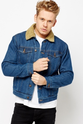 largest selection of size 40 professional design Teddy Bear Collar Denim Jacket