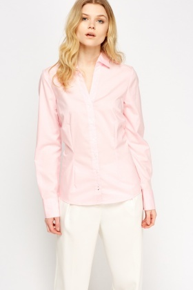 Button Front Fitted Shirt