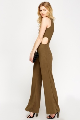 Cut Detailed Fitted Jumpsuit