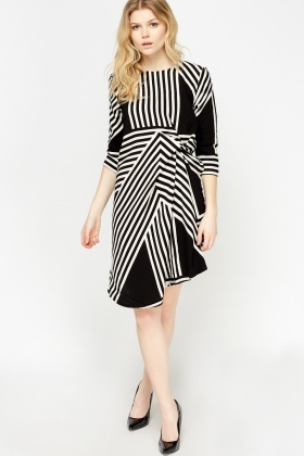 Mono Ruched Asymmetric Dress