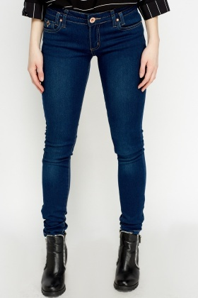 Skinny Fit Denim Blue Jeans