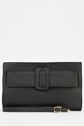 Faux Leather Clutch Bag