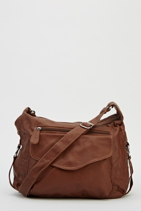 Front Flap Pocket Crossbody Bag