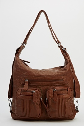Multi Functional Faux Leather Bag