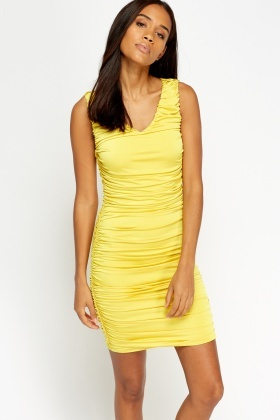 Ruched Mini Bodycon Dress