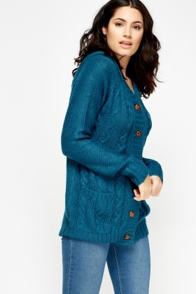 Button Up Knitted Cardigan