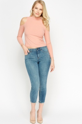 Ankle Grazer Denim Cropped Jeans