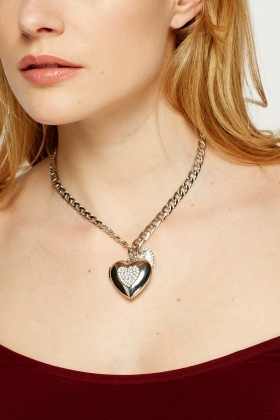Heart Encrusted Necklace
