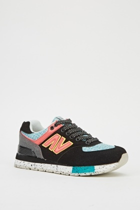 Multi Contrast Low Top Trainers
