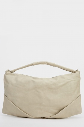 Sand Faux Leather Bag