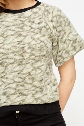 Knitting Pattern Box Jumper : Bobble Knit Metallic Box Jumper - Cream/Gold - Just ?2