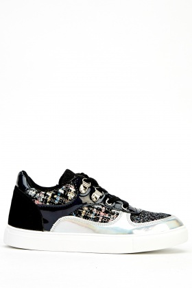 Contrast PVC Low Top Trainers