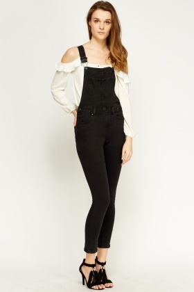 Charcoal Denim Dungarees