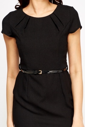 Black Belted Formal Dress