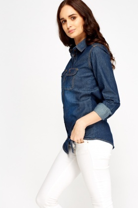 Denim Twin Pocket Shirt