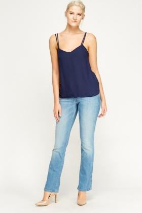 Flared Leg Denim Jeans
