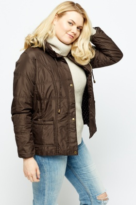 Chocolate Quilted Jacket