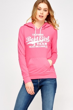 Logo Front Soft Pink Hoodie