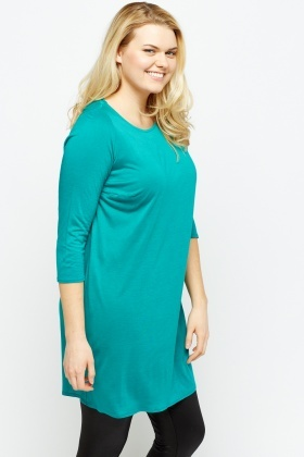 Green Casual Tunic Top
