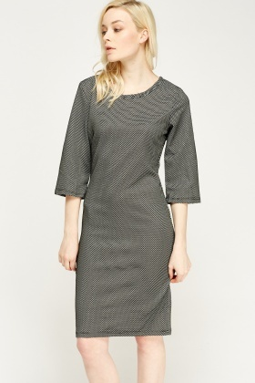 Perforated Midi Box Dress