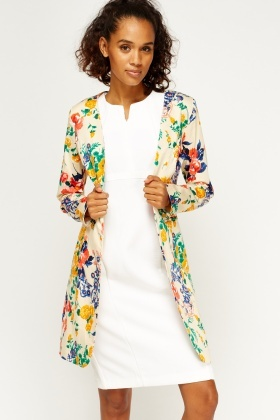 Floral Fitted Lined Jacket