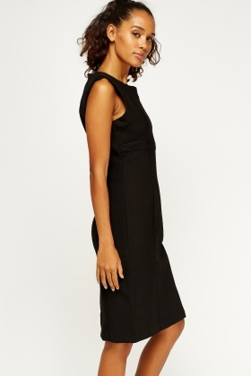 Textured Formal Midi Dress