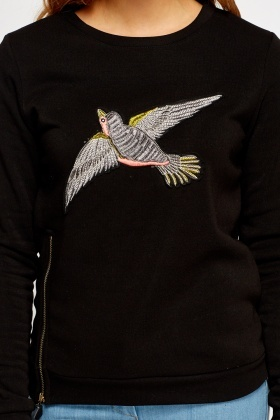 Embroidered Bird Jumper