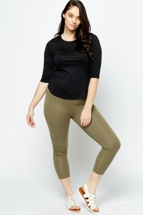 Olive Basic Leggings