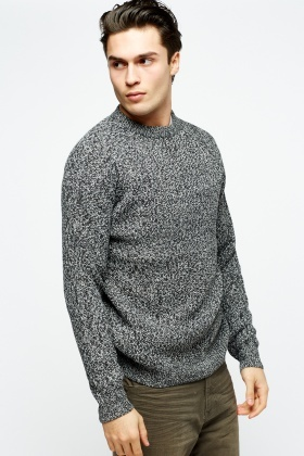 Cable Knit Speckled Jumper