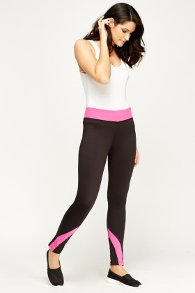 Colour Block Elasticated Gym Leggings