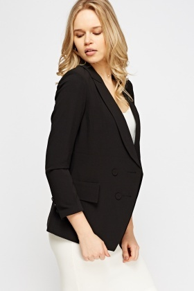 Double Breasted Black Formal BLazer