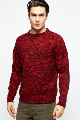 Speckled Ribbed Knit Jumper